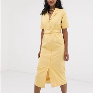ASOS Denim Belted Midi Dress ✨